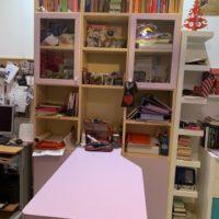 Libreria e scrivania per cameretta